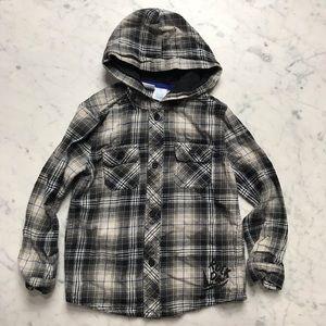 amy coe Rock On Hoodie Flannel Long Sleeve Shirt